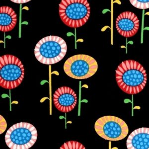 Flirty Flowers Robert Kauffman Fabric
